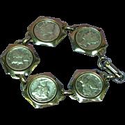 Mercury Dime Genuine Dime Silvertone Bracelet