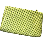 Whiting Davis Ivory Color Mesh Aluminum Purse Clutch
