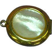 Mother-of-Pearl Double Photo Container Locket Pendant
