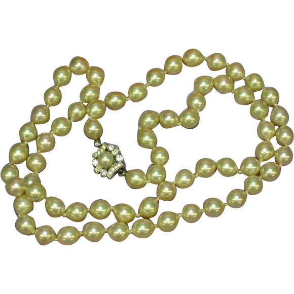 "Vendome Classic Elegant Single 24"" Strand Cultured Pearls Necklace"