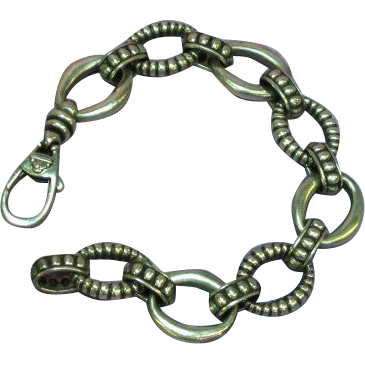 Steven Lagos Caviar  CAVIAR Sterling Silver Large Link Bracelet
