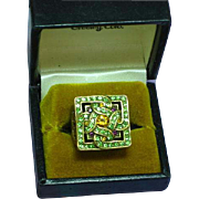 Spectacular Heidi Daus Style Swarovski Pave Rhinestones Ring