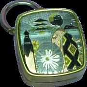 Japanese Damascene Sankyo Music Box Key Ring
