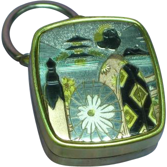 Japanese Damascene Sankyo Music Box Key Ring