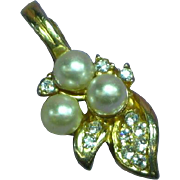 Roman Beautiful Rhinestone Pearl Necklace Beads Enhancer