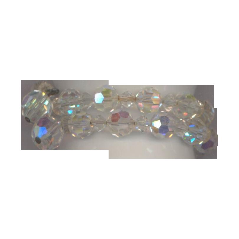 Vintage  Crystal Glass Memory Bracelet