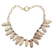 Vintage Fun 40's Celluloid and Shells Necklace