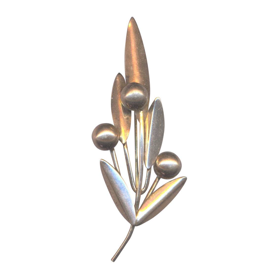 Vintage Napier Sterling Flower Brooch