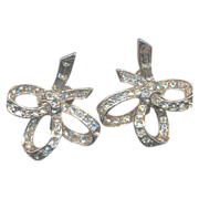 Vintage Fabulous 40's Rhinestone Earrings
