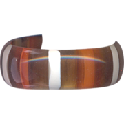 Vintage Lucite  Swirled and Striped Bangle Bracelet