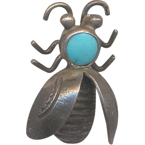 Vintage Little Bug with Turquoise