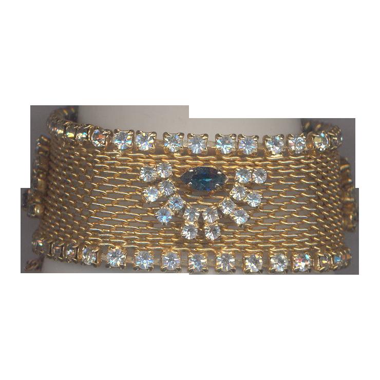 Vintage  Hobe' Bracelet with Rhinestones