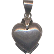 Vintage Sterling Foldout Locket Pendant