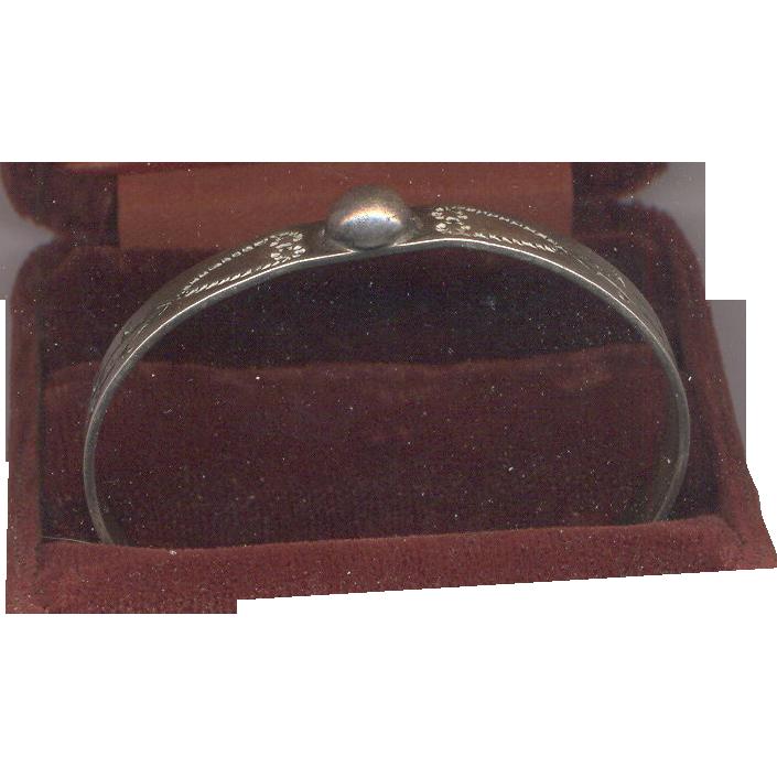 Rare Sterling Silver  Arrow Baby Cuff Bracelet