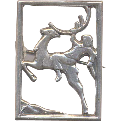 Norwegian Sterling Brooch