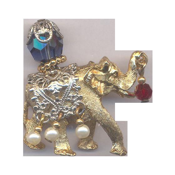 Napier Original Circus Elephant Brooch