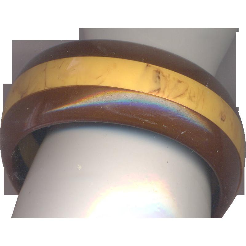 Vintage Layered Bakelite Bangle Bracelet