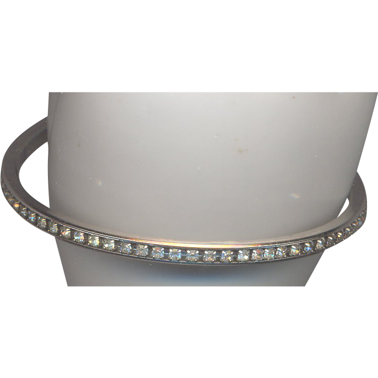 Vintage Trifari Rinestone Bangle Bracelet