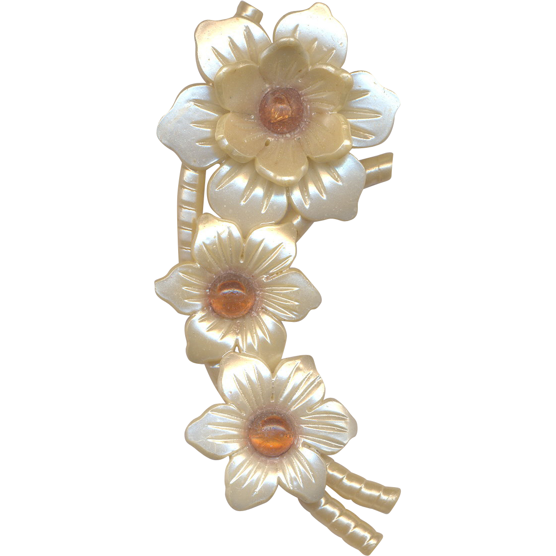 Vintage Nylon Flower Brooch