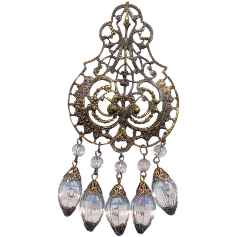 Nouveau Dangling Large Brooch