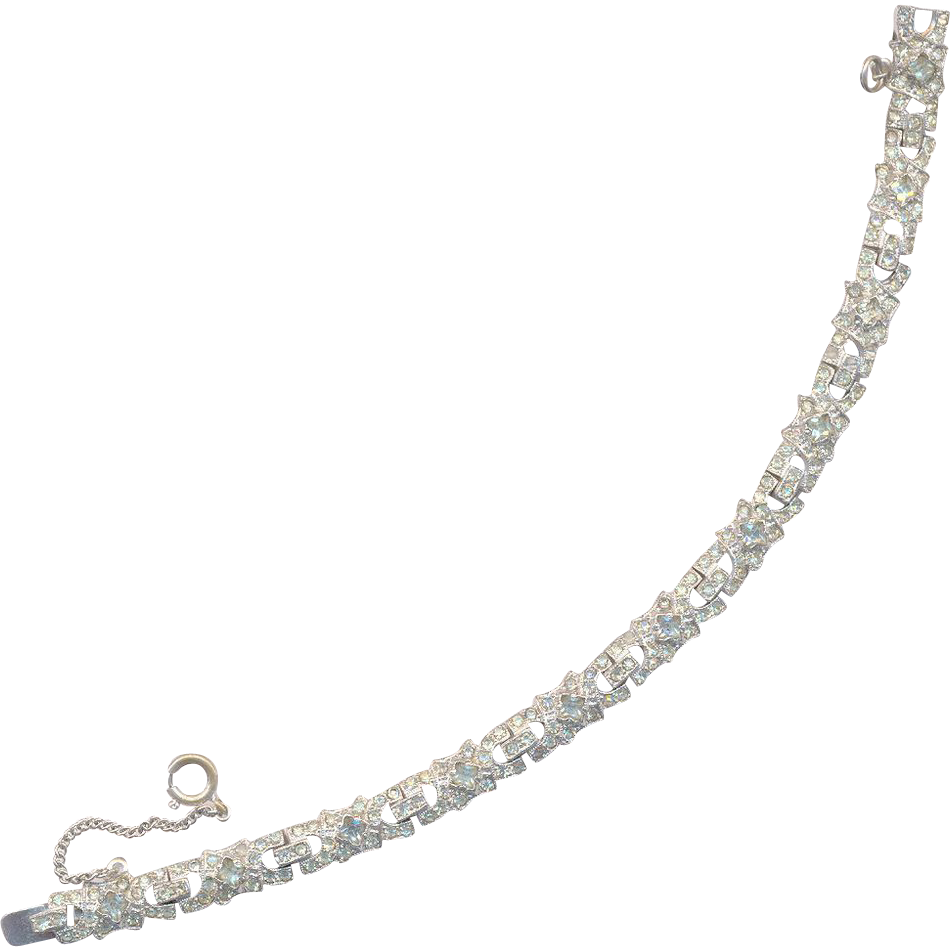 Beautiful Rhinestone Bracelet with Safety