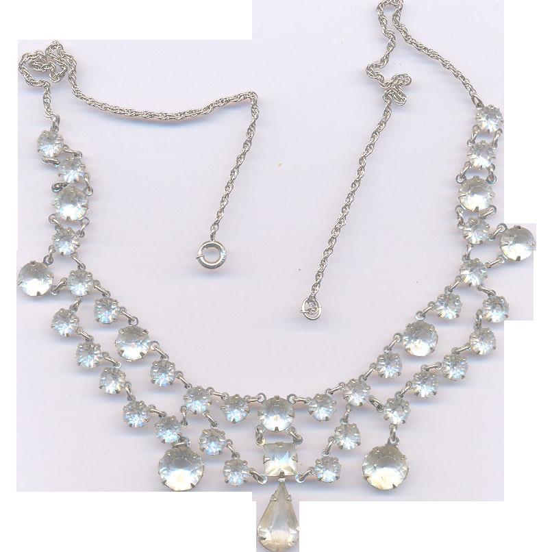 Sparkling Deco Crystal Rhinestone Necklace