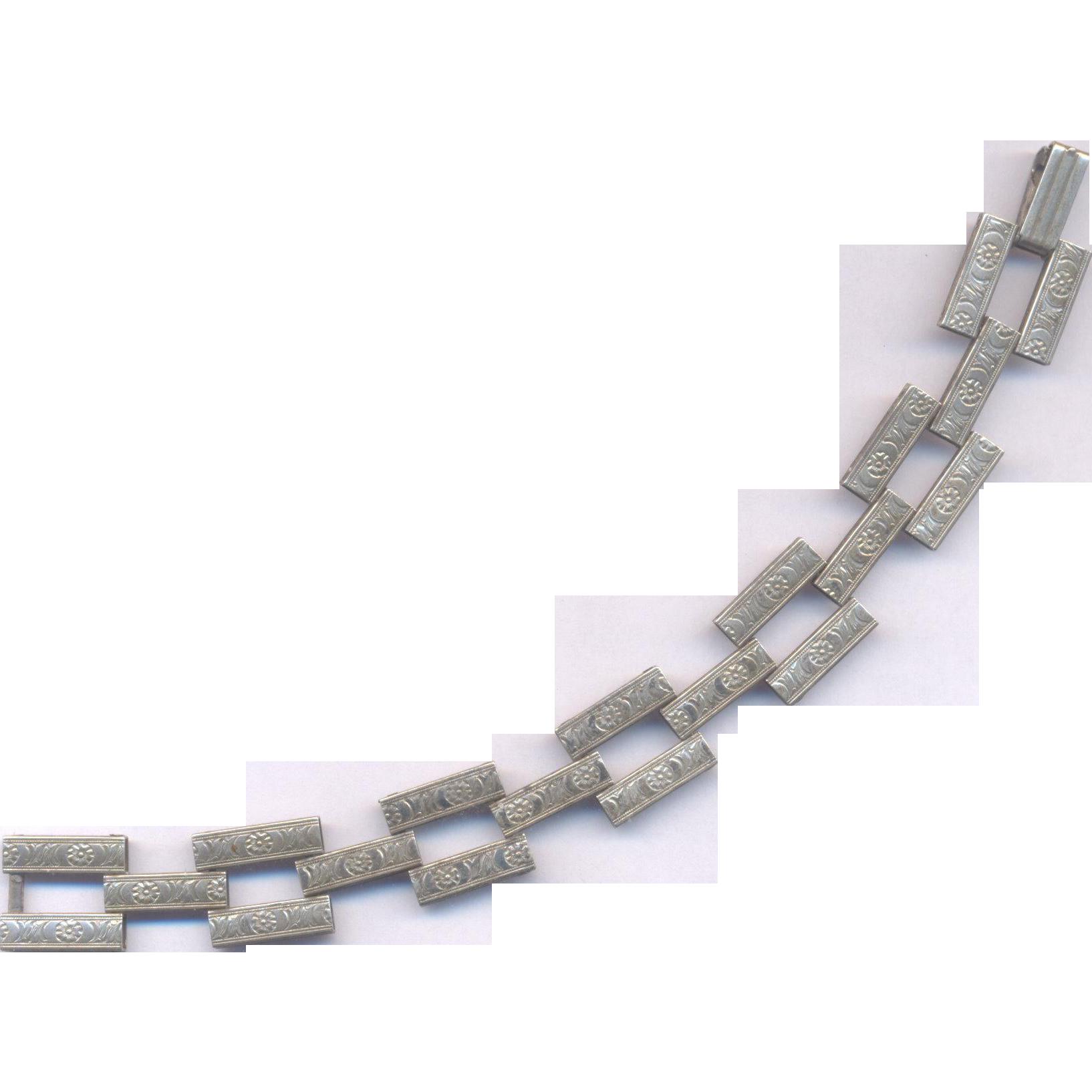 Sterling Vintage Ladder Bracelet