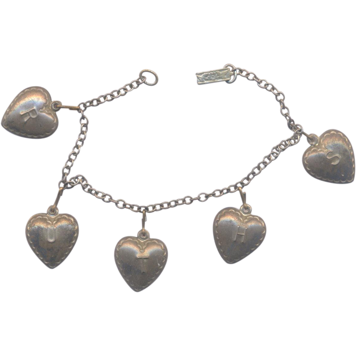 Sterling Puffy Heart Bracelet