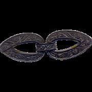 Early Plastic Black Belt Buckle
