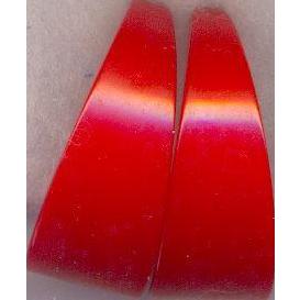 Bakelite Red Clip on Earrings