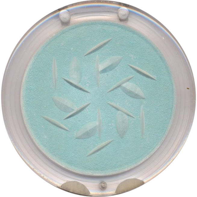 Beautiful Vintage Lucite Compact by Bell DeLuxe