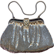 Whiting and Davis Silver Mesh Purse - Red Tag Sale Item