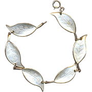 David Anderson Sterling White Leaves  Bracelet