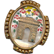 Japanese Pagoda Brooch
