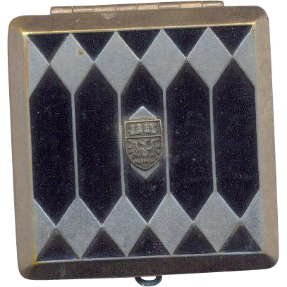 Vintage Compact with Crest