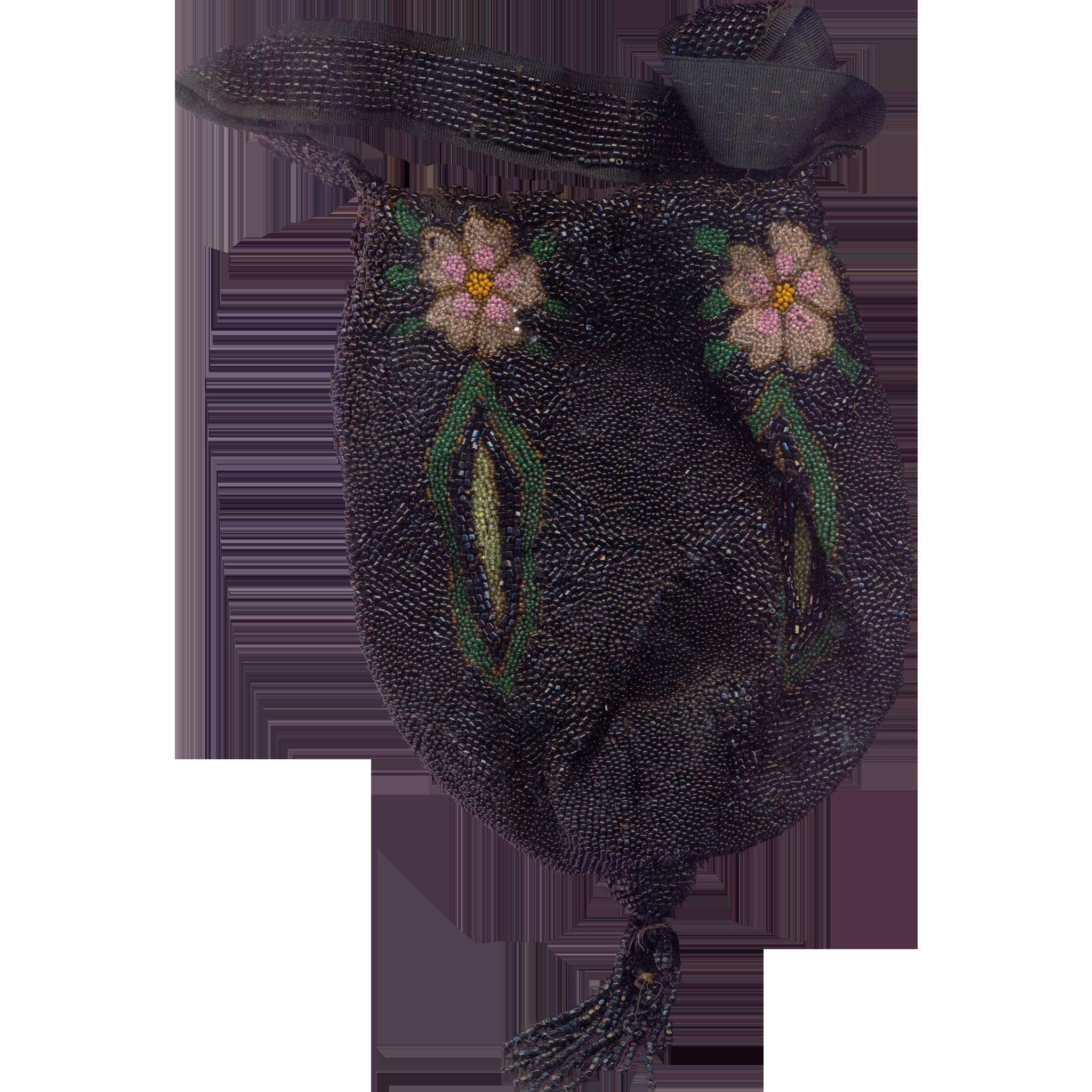 Fabulous Hand Beaded Deco Flapper Purse