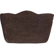 Brown Vintage Corde' Clutch Purse
