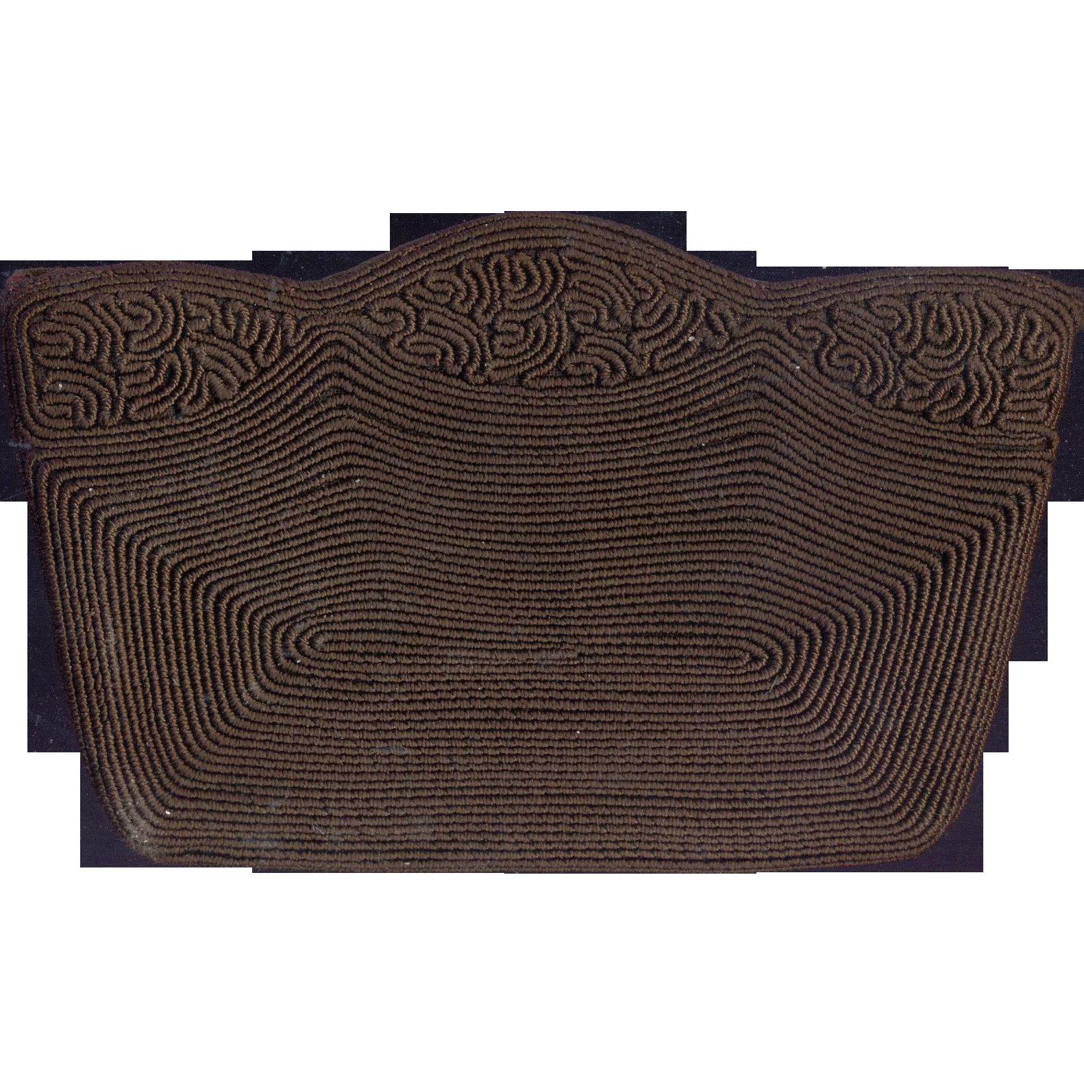 Brown Vintage Corde' Clutch Purse