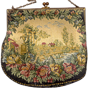 Vintage Walborg French Tapestry Purse - Red Tag Sale Item