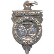 Vintage Sterling Charm Royal Gorge Colorado