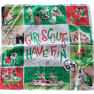 Mid Century Girl Scout Handkerchief