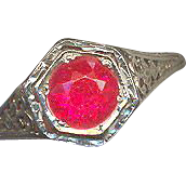 Antique Deco 18K Synthetic Ruby Ring
