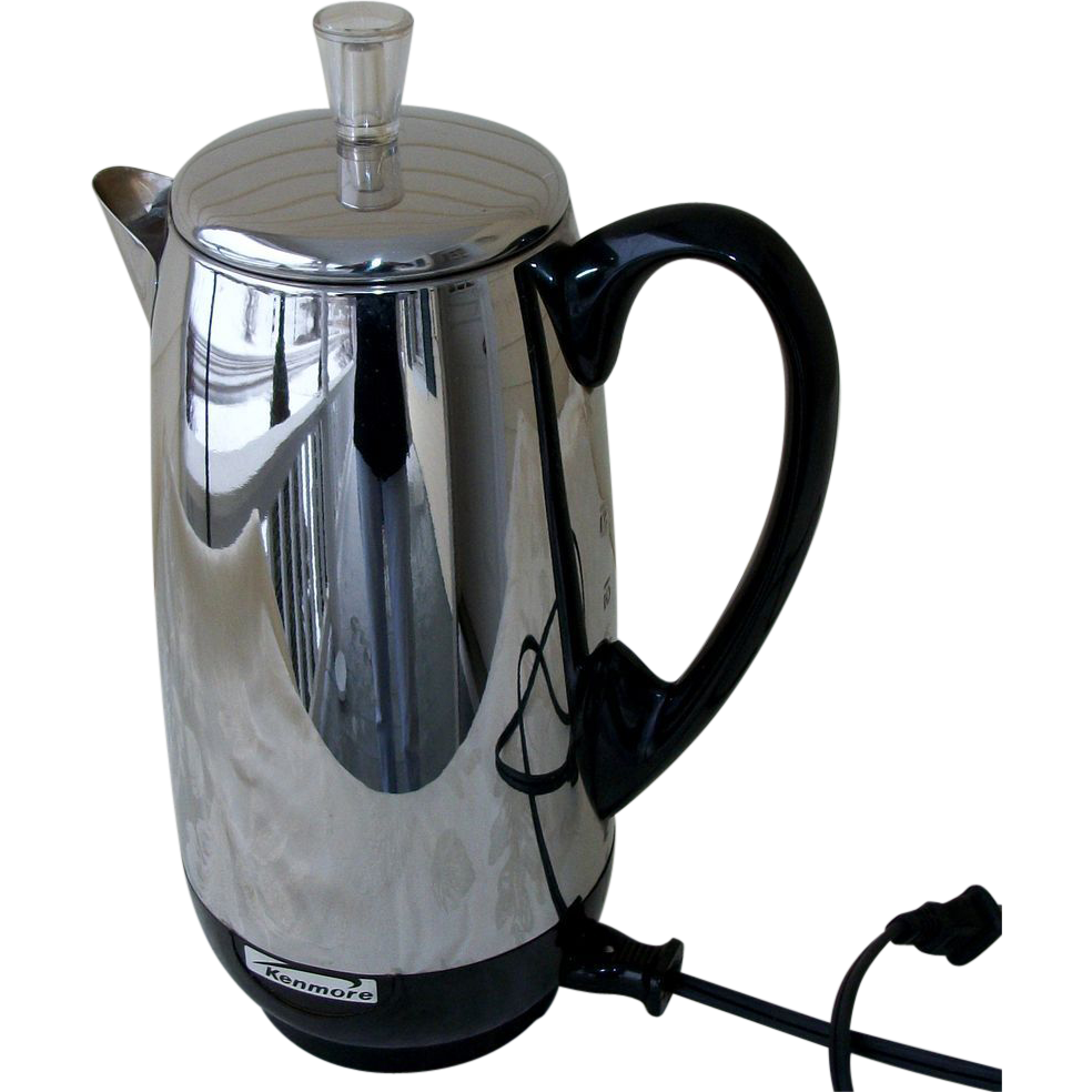 Coffee Maker With Percolator : Kenmore 12 Cup Chrome Percolator, Coffee Maker SOLD on Ruby Lane