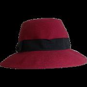 Vintage Michael Howard Miss Bierner 100% Wool Hat Made in U.S.A.
