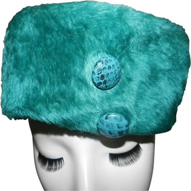 Vintage Alfreda Inc. Turquoise Hat Registered Selene Body Made in Italy
