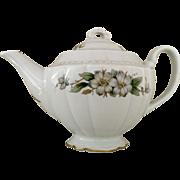 Vintage Tea Pot Embassy USA Vitrified China Three Cup