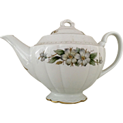 Vintage Tea Pot Embassy USA Vitrified China Three Cup