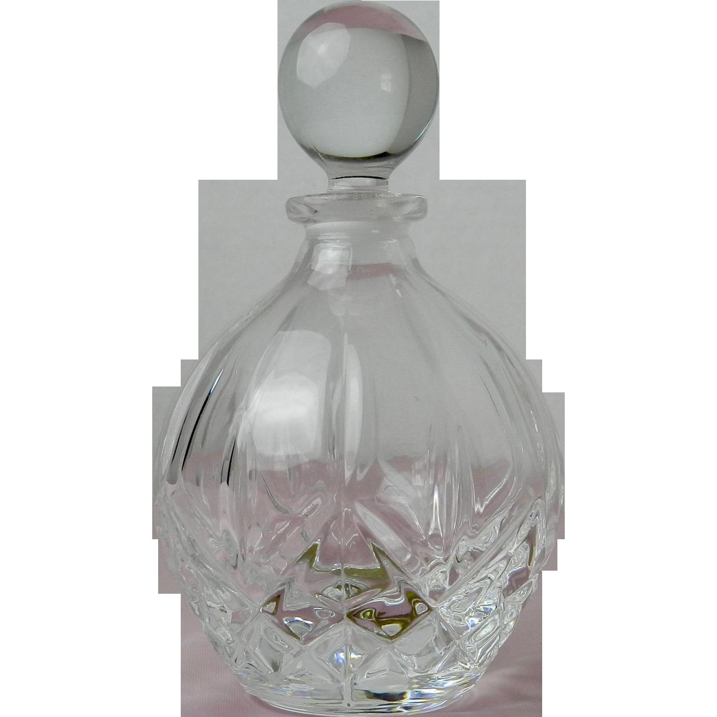 Vintage Perfume Bottle Royal Crystal Rock 24% Lead Crystal Italy