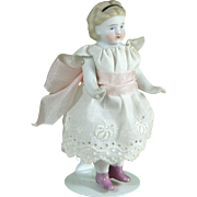 "4"" S&H or ABG Early White with Pink Luster Boots ~ All Bisque Doll"