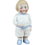 """3 3/8"""" Mini Hertwig Campbell Kid Googly All Bisque Doll"""